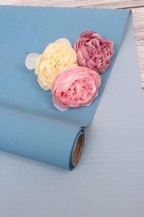 Матовая бумага двухсторонняя 50см*10м 50мкр, цв.голубой/синий 4720 Н