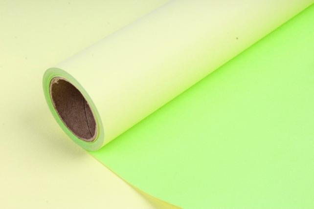 Матовая бумага двухсторонняя 50см*10м 50мкр.желтый+салатовый (Н) 8862