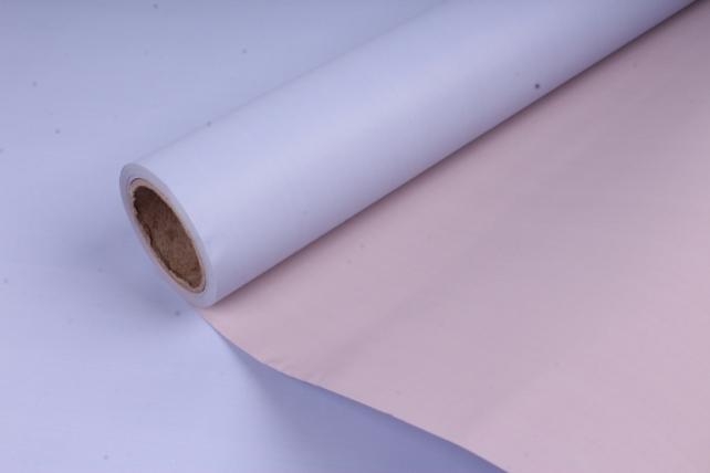 Матовая бумага двухсторонняя 50см*10м 50мкр.лаванда/пудра (Н)