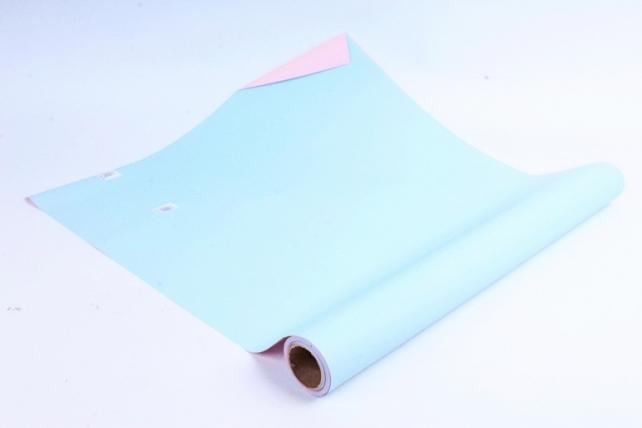 Матовая бумага двухсторонняя 50см*10м 50мкр.розовый/голубой (Н) 4390