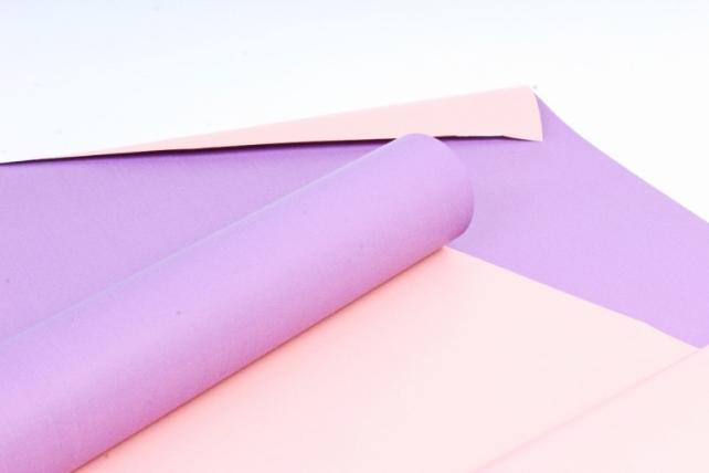 Матовая бумага двухсторонняя 50см*10м 50мкр.темно-сиреневый+персик (Н) 8879