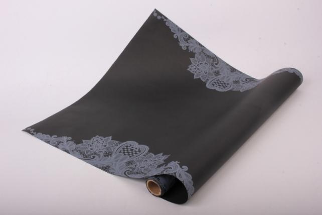 """Матовая бумага """"Кружево"""" 50см*5м черный + белый"""