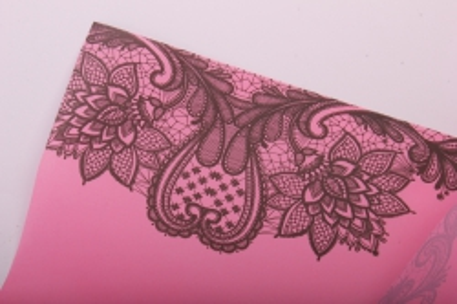 "Матовая бумага ""Кружево"" 50см*5м нежно розовый"