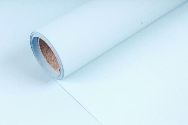 Матовая бумага (Н) 50см*10м 50мкр.голубой 5829
