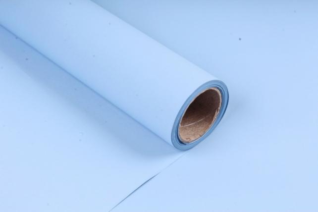 Матовая бумага (Н) 50см*10м 50мкр.голубой MN2-6  5829
