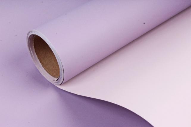 Матовая пленка двухцветная, 60 см х 10 м Лаванда/Чайная роза (М) 9075