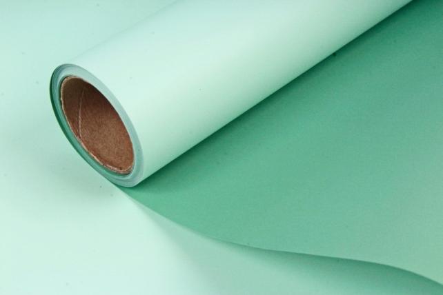 Матовая пленка двухцветная, 60 см х 10 м Мята/Зеленый (М) 9112