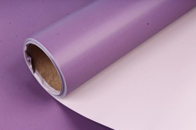 Матовая пленка двухцветная, 60 см х 10 м Розовый/Фиолетовый (М) 9068