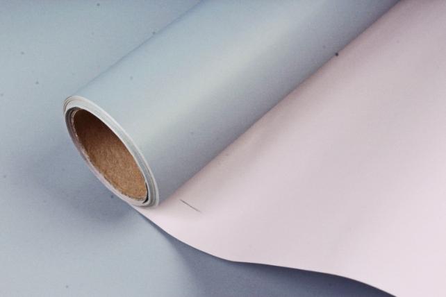 Матовая пленка двухцветная, 60 см х 10 м Серый/Розовый (М) 9044