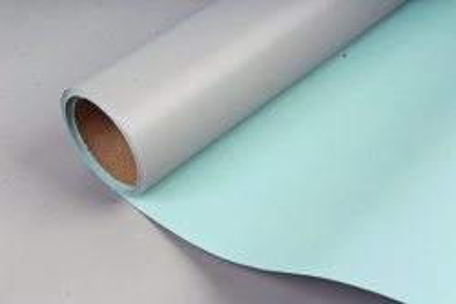 Матовая пленка двухцветная, 60см х 10м, серо-зеленый/ментоловый (М) 3386
