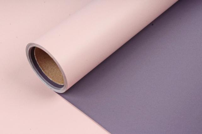 Матовая пленка двухцветная, 60см х 10м, темно-фиолетовый/розовый (М) 3355
