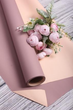Матовая пленка двусторонняя 60см*10м, 70мкр. чайная роза/бежевый 3662Н