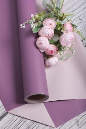 Матовая пленка двусторонняя 60см*10м, 70мкр. фиолетовый/розовый 3730Н