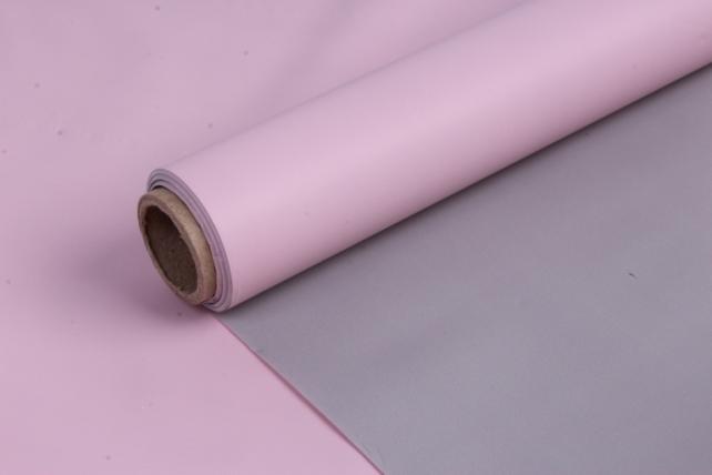 Матовая пленка (Н)  50*10м серый+неж.роз
