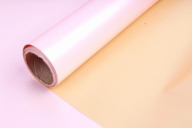 """Матовая пленка (Н) """"Шарм"""", 50см*5м, розовый/золото"""