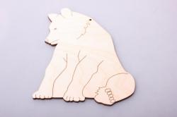 Медведь 11,5х15см, фанера 4мм  005007