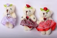 Медведь  (3шт в уп) 10169 цвета в ассортименте