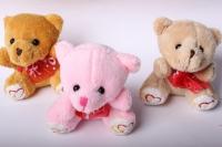 Медведь 4 цвета (3шт в уп) цвета в ассортименте