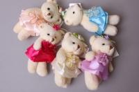 Медведь для букета, цвета в ассортименте 1417/2/3/5/7 1шт.