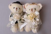 Медведь для букета жених и невеста в ассортименте 1426 1 шт