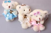 Медведь для букетов, цвета в ассортементе 1433/2/3/4/7 1шт.