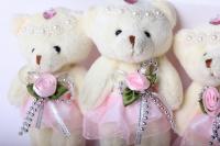 медведь жених невеста (беж) (3шт в уп) 10003