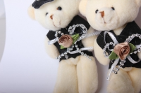медведь жених невеста (роз.) (3шт в уп) 10021
