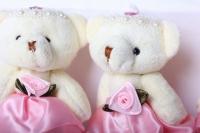 медведь с цветком (роз.) (3шт в уп) 10004а