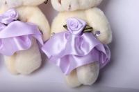 медведь с цветком (сиреневый) (3шт в уп) 10005а