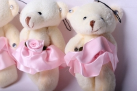 медведь в розовой юбке (3шт в уп) 10157