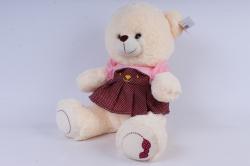 Медвежонок в коричневом плптье 40см   М-2900/40