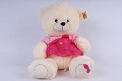 Медвежонок в розовом плптье 40см   М-2900/40