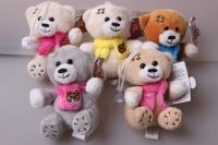 Медвежонок в шарфе, цвета в ассортименте 15017/9 1шт.