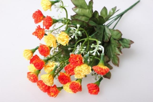 мини хризантема желто/оранжевая букетик 30см