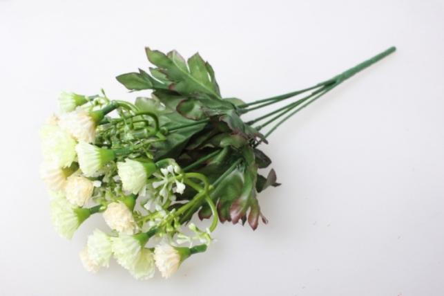 мини хризантема кремово/салатовая букетик 30см