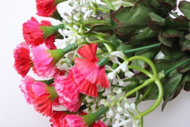 мини хризантема розово/красная букетик 30см