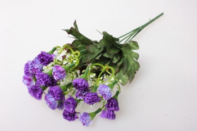 мини хризантема сиренево/фиолетовая букетик 30см