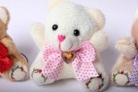мишка белый/розовый/коричневый (3шт в уп) 100805/1