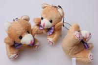 Мишка с бантом (игрушка мягкая) (3шт в уп)