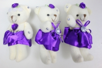 Мишка в фиолетовой юбке (3шт в уп)