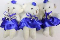 Мишка в синей юбке (3шт в уп)