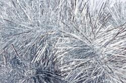 Мишура 2.2м  (d=15см) серебро
