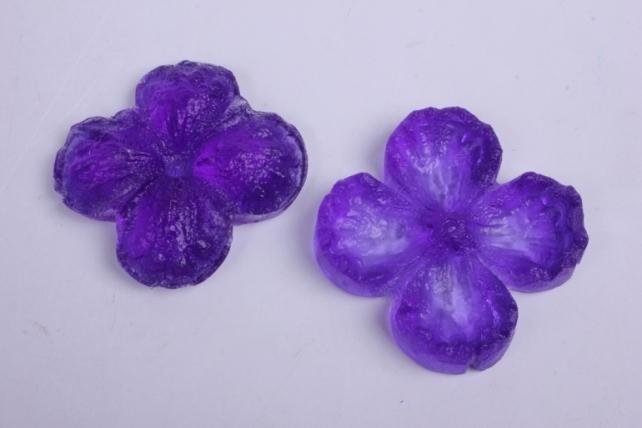Молд- Цветок Фиалка, двойной,  арт. 3055 7x7cm