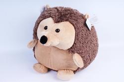Мягкая игрушка Ёжик круглый коричневый с бежевой грудкой  МА-19297/36