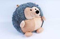 Мягкая игрушка Ёжик круглый серый с бежевой грудкой  МА-19297/36