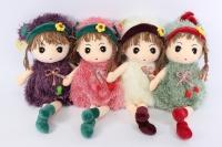 Мягкая Игрушка - Кукла 45см кремовая  (тряпичная) - Код 1371/45