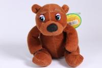 Мягкая игрушка - Медведь коричневый 15 см - Код 15728С