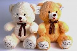 Мягкая игрушка Медведь с бантом 3 цвета   М-1324/38