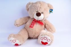 Мягкая игрушка Медведь с бантом бежевый   АГ-4367/50