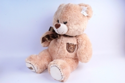 Мягкая игрушка Медведь с бантом бежевый  АГ-1779/50